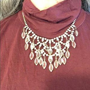 Jewelry - Antique EUC Teardrop Crystal Necklace w/Earrings